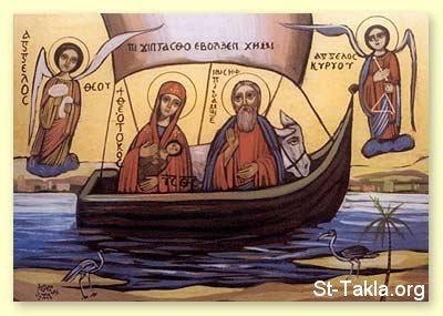 Святое Семейство в Египте (Мат. 1.15) www-St-Takla-org__Saint-Mary_3-Years-in-Egypt-17 Коптская икона