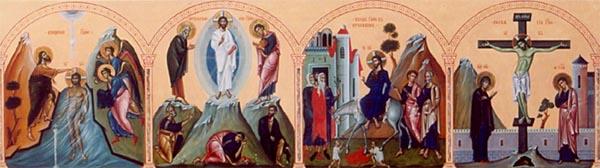 Иконостас церкви в Липецкой области. Фрагмент праздничного чина (архим. Зинон)