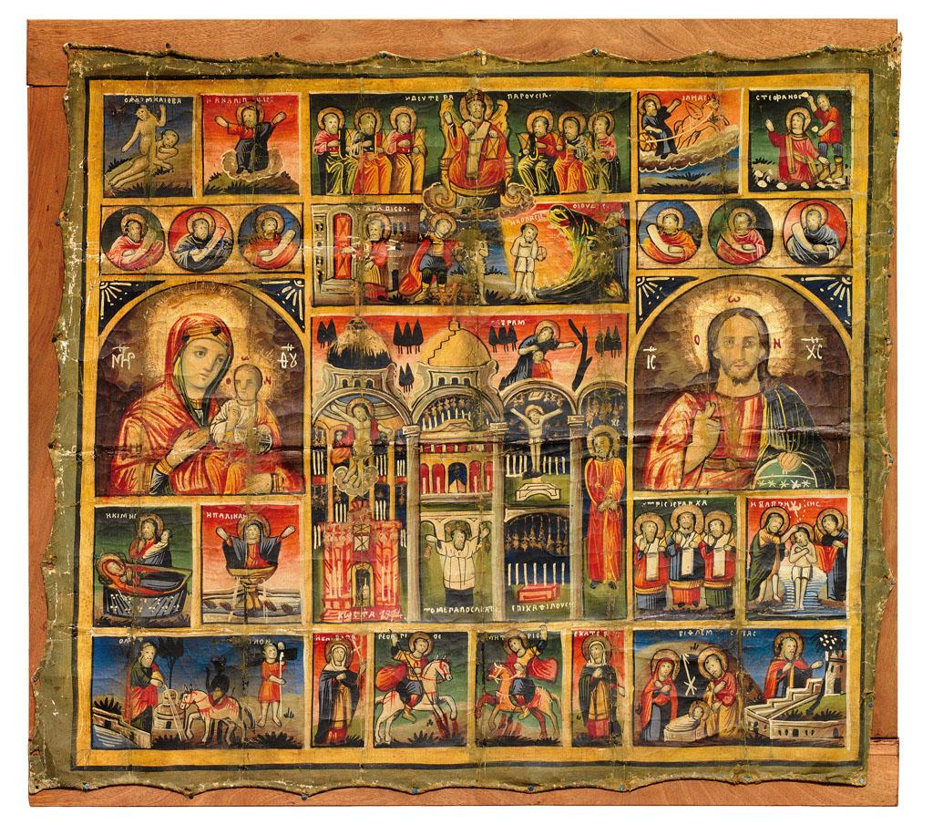 ИЕРУСАЛИМСКАЯ ИКОНА (для греческих паломников) Иерусалим, XIX в. 76 x 85 см. www.zeller.de Частное cобрание