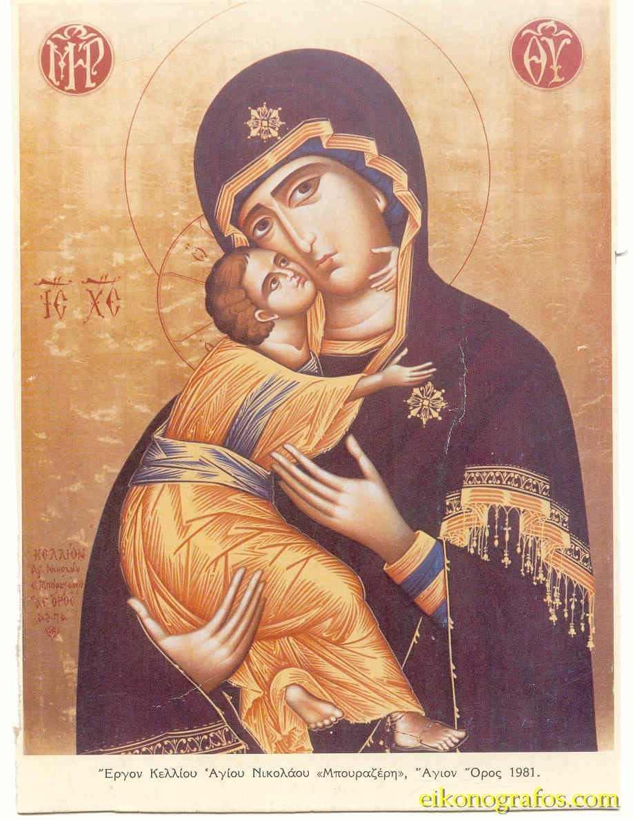 Вышивка икон. Владимирская икона Божией Матери вышитая 94