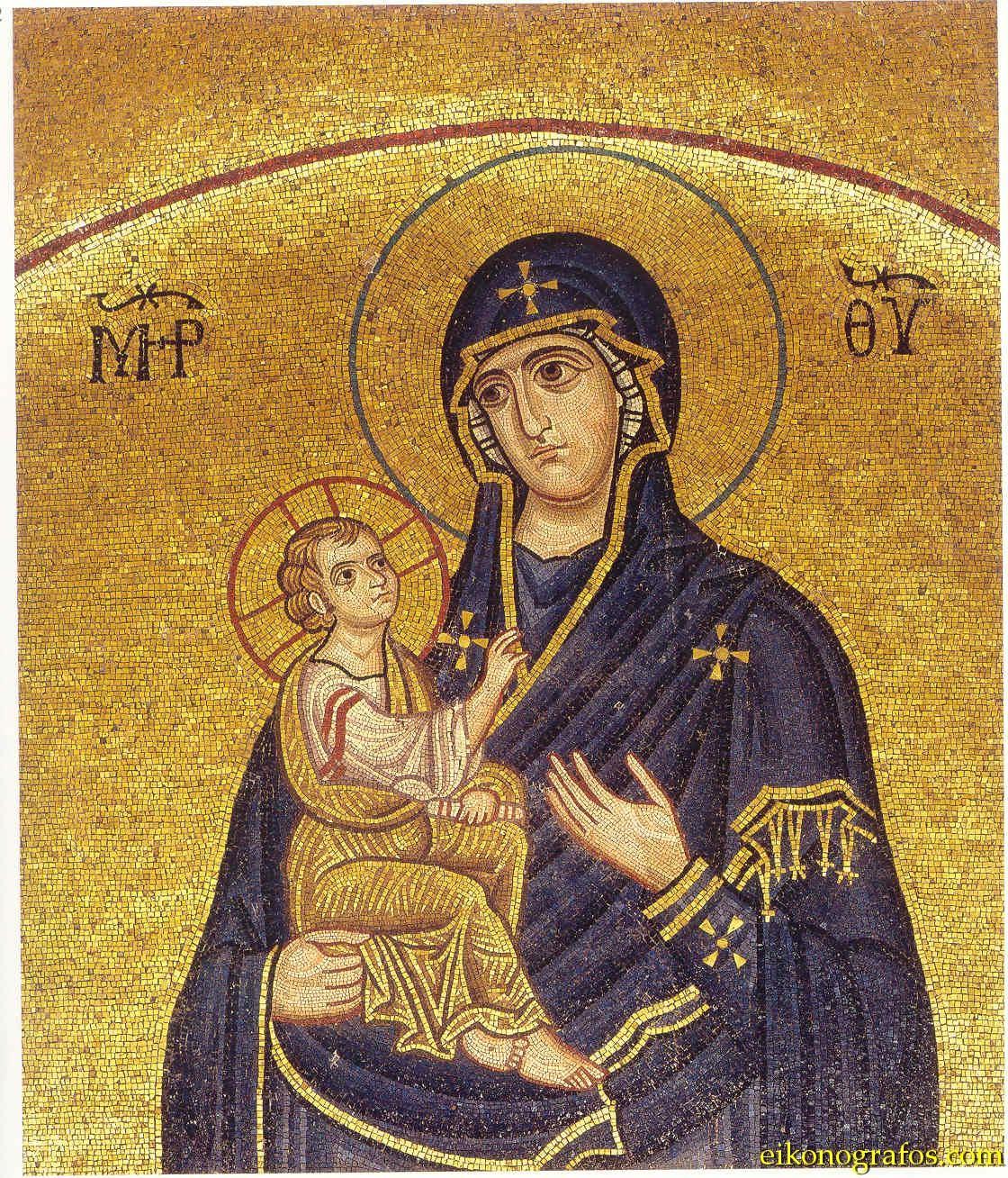Изображение воспроизводится по изданию: Chatzidakis N. Hosios Loukas: Mosaics - Wall Paintings.  Athens: Melissa, 1997.