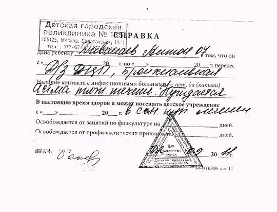Мед справка на получение водительского удостоверения Голицыно