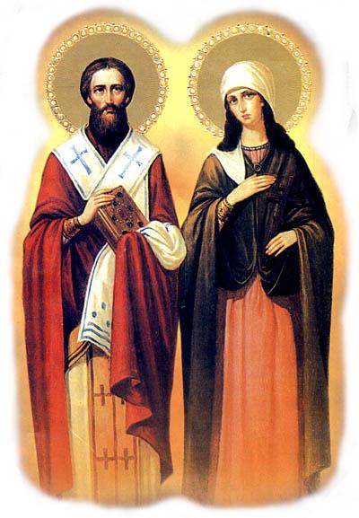 икона святой киприан и устинья одним