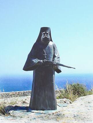 Памятник греческим священникам и монахам, с оружием в руках защищавшим Отечество