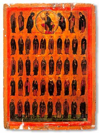 икона 40 святых: