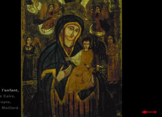 Икона Богоматери из Коптского музея в Каире