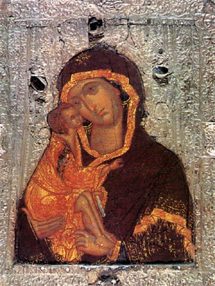 Донская икона Божией Матери (фрагмент)