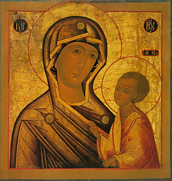 ...знаменитой иконы Тихвинской Богоматери с той разницей, что здесь дано...