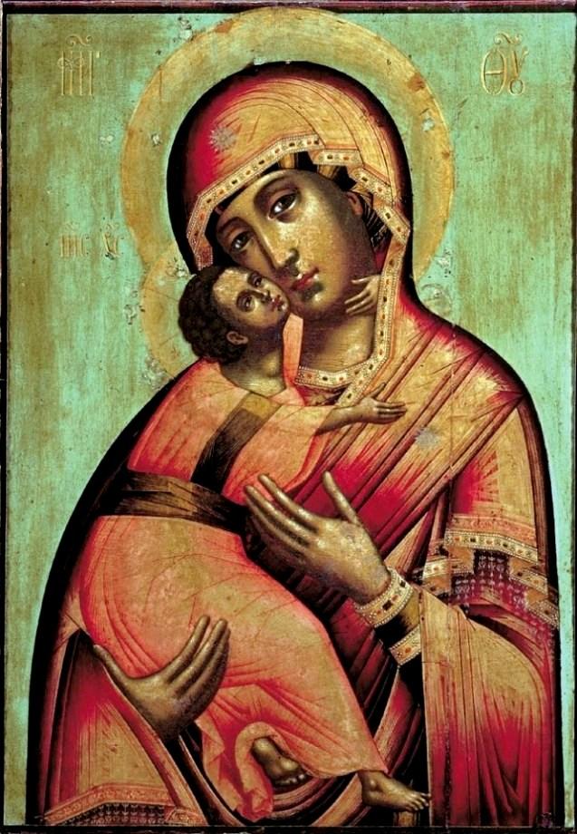 Икона владимирская богоматерь фото