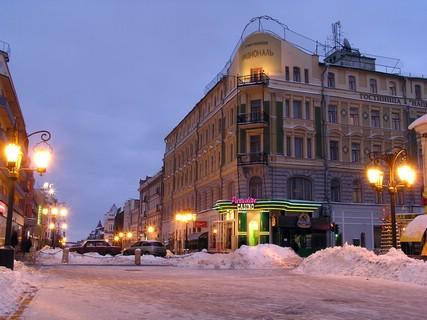 Самара. Январь 2006 года. Пересечение улиц Ленинградской и Фрунзе