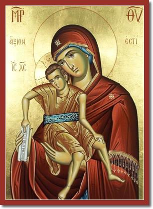 икона божьей матери достойно есть: