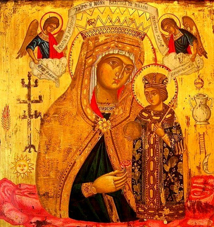 Удалить.  Ответ на #2225969 Ульяна Н. православный христианин.  Богоматерь Неувядаемый Цвет Греческая икона.