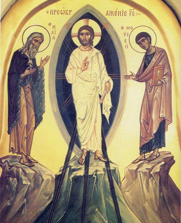 ПРЕОБРАЖЕНИЕ ГОСПОДНЕ фрагмент Покровская церковь Псково-Печерский Успенский монастырь Архимандрит Зинон 1985 г.
