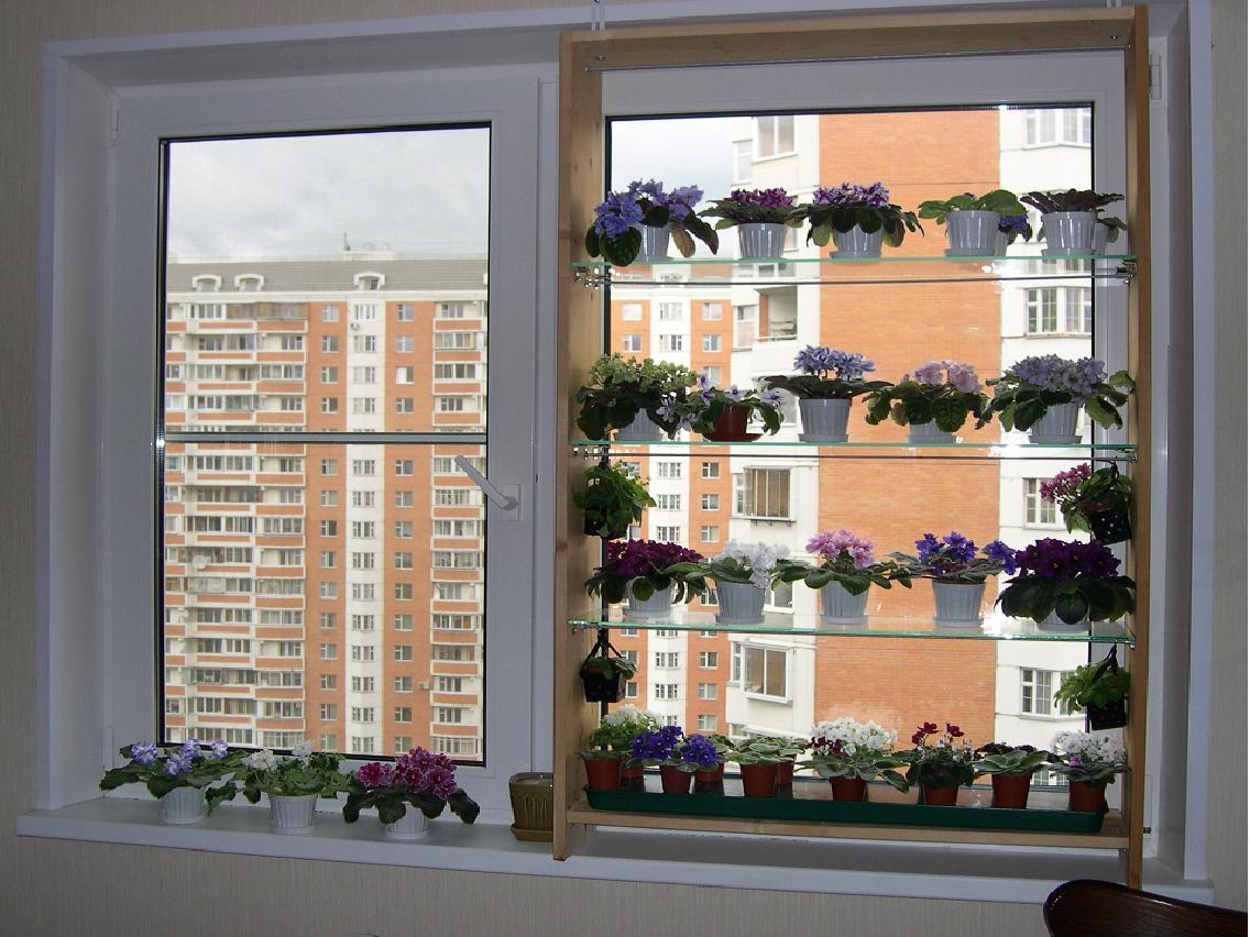 Стеллаж для рассады на окно