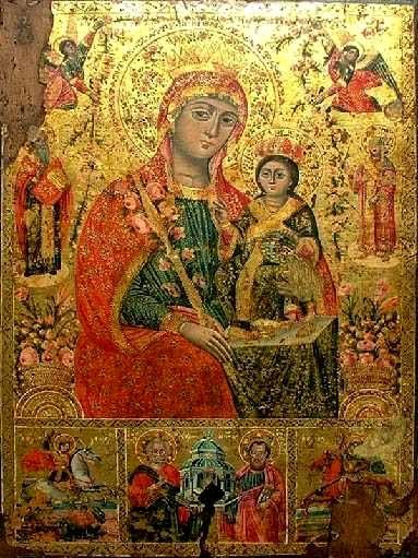 Ответ на #1677743 р.Б. Иоанн православный христианин.  Удалить.  Богородица НЕУВЯДАЮЩАЯ РОЗА Болгария, около 1836 г...