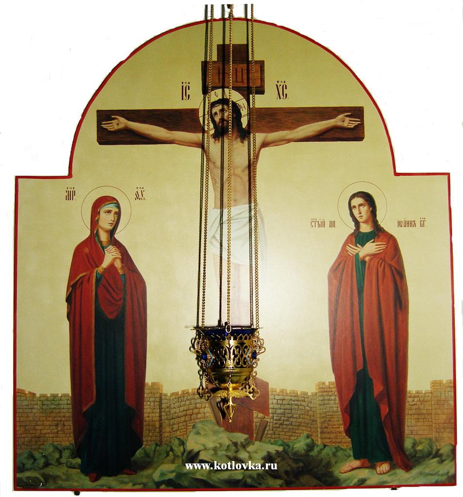 оптимальному сочетанию кто изображен по бокам у святого распятия христа этом