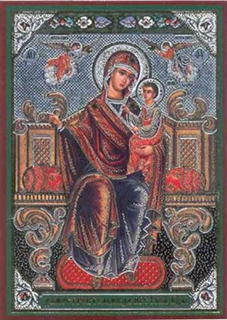 Ответить.  Удалить.  ВО СЛАВУ БОЖИЮ! икона Божией Матери Домостроительница ( (Экономисса) Cовременная.