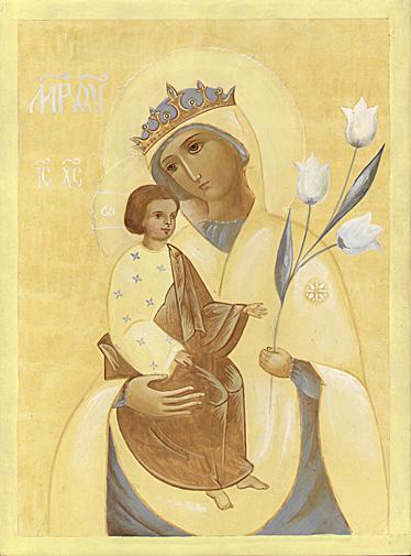"""Перед иконой  """"Неувядаемый Цвет """" молятся прежде всего о том, чтобы сохранить..."""