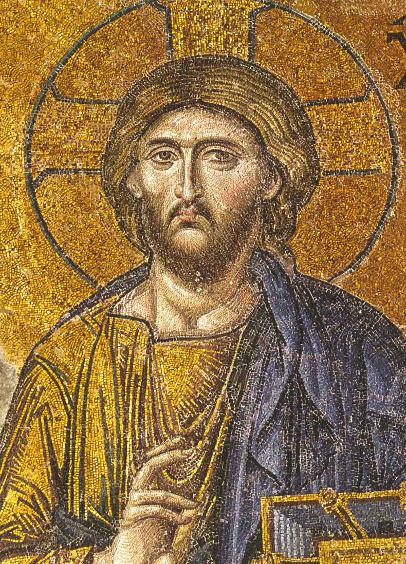 Святая София Византия Константинополь XIII в. фрагмент campus.belmont.edu Фрагмент золотой мозаики