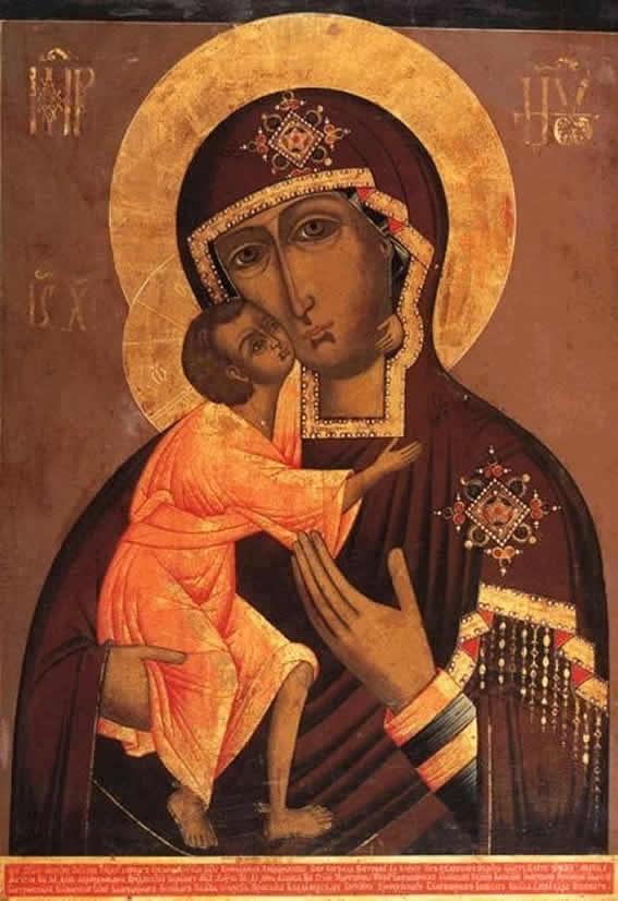 Феодоровская-Костромская икона Божией МатериРоссия, XVIII век.