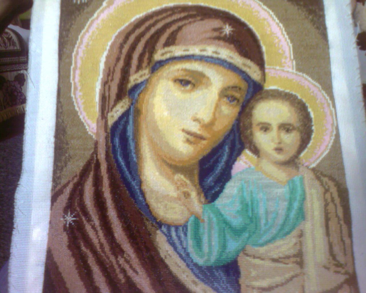схема вышивки тихвинской иконы божией матери