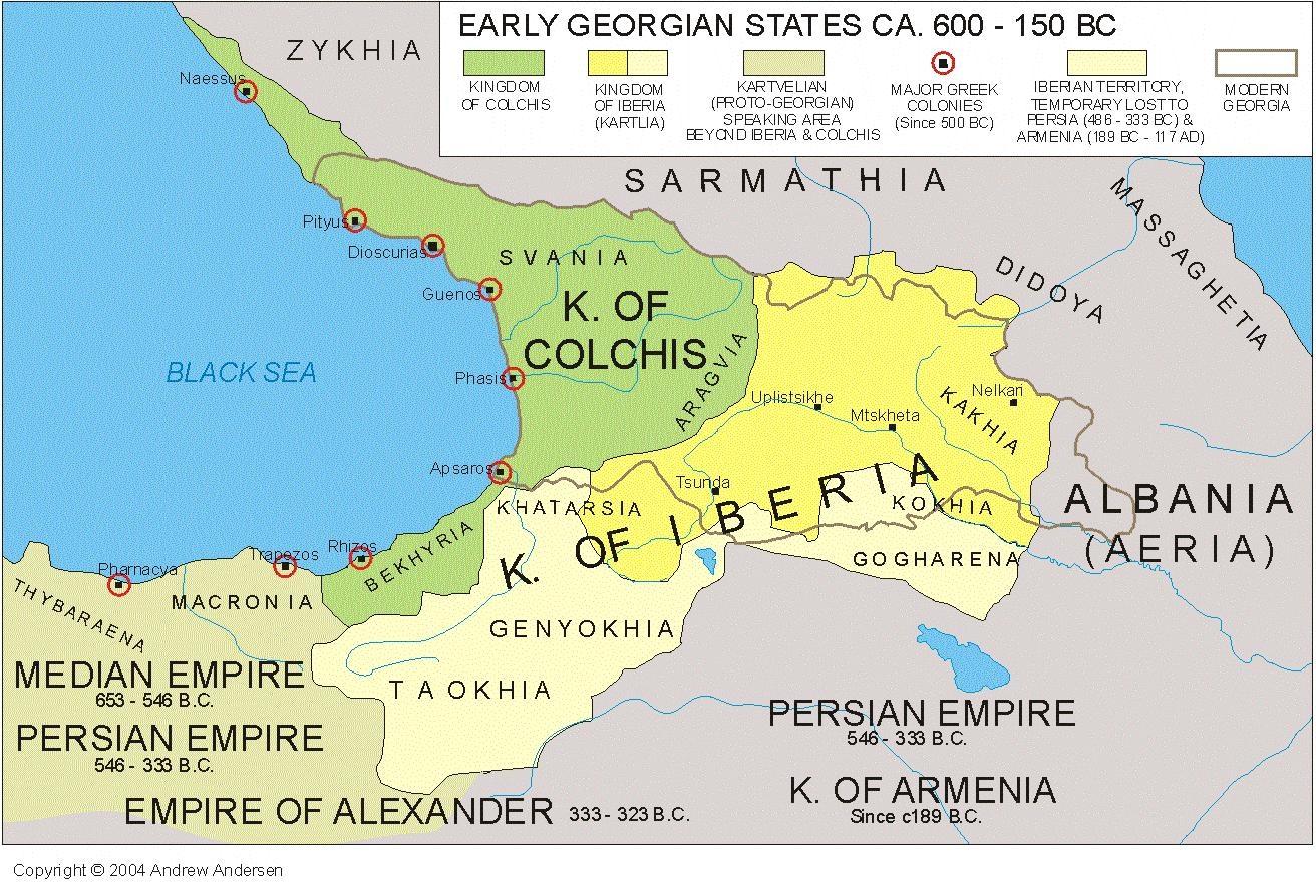 Карта грузии в 600 150 году до рождества