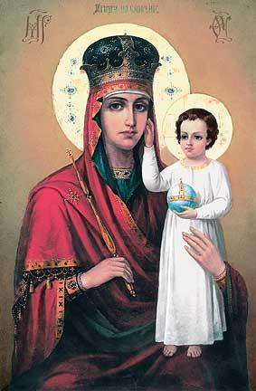 """литургия у чудотворной иконы Божией Матери  """"Призри на смирение """" прошла сегодня в Свято-Троицком кафедральном соборе в..."""