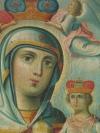 Лилия в руках Марии - символ чистоты и невинности.  Происхождение иконы Неувядаемый цвет.