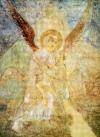 Софии Киевской. софийских фресок.  Среди. был посвящен архангелу Михаилу - архистратигу небесного воинства.